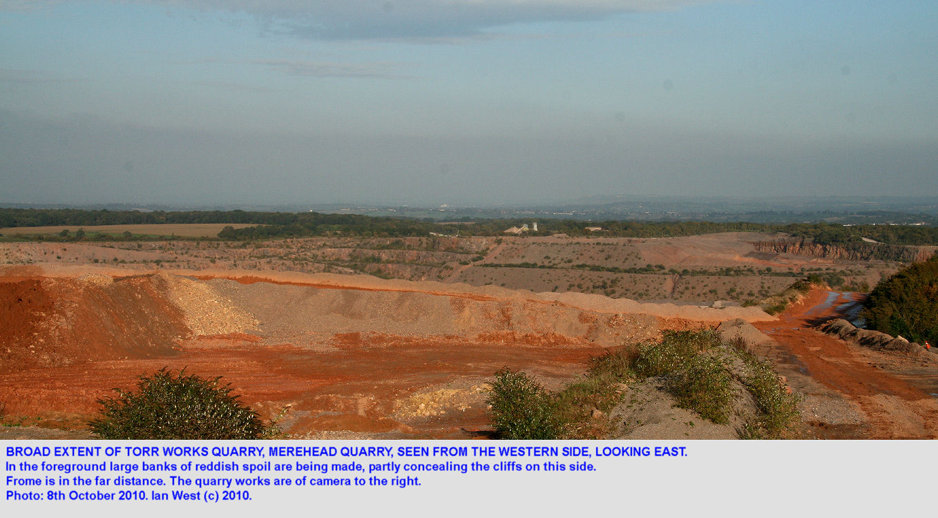 Torr Quarry seen from the western side looking eastward, Mendip Hills, Somerset, 2010