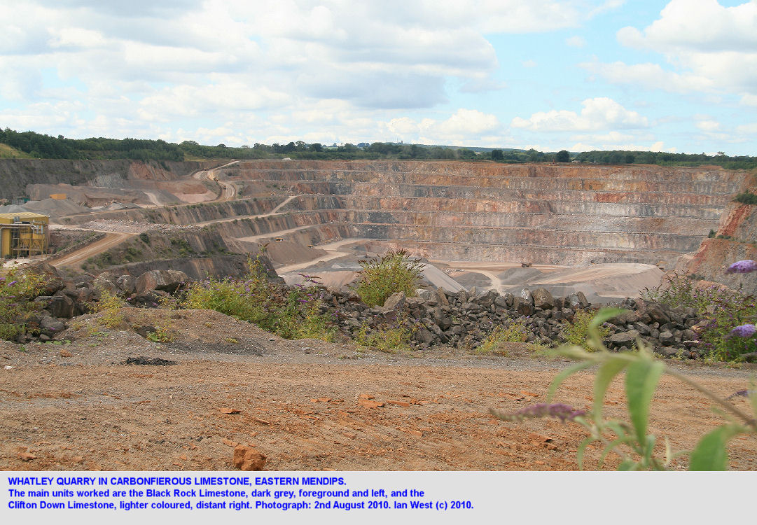 Whatley Quarry, East Mendip Hills, Somerset, an overview