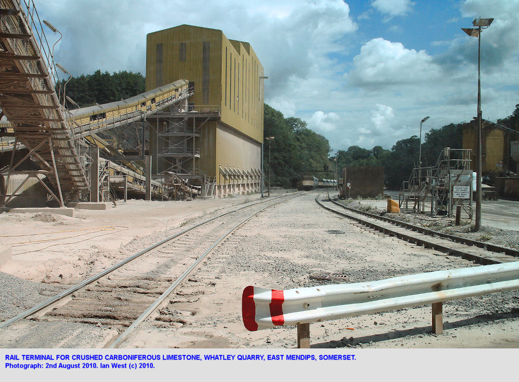 Whatley Quarry, railway terminal, East Mendip Hills, Somerset