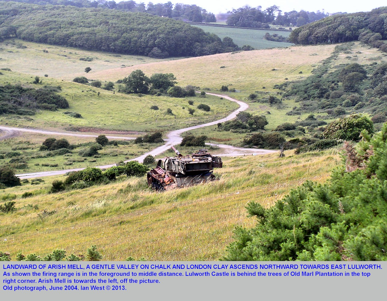 A view of the valley on Chalk and London Clay, landward of Arish Mell, near Mupe Bay, Dorset, 2004