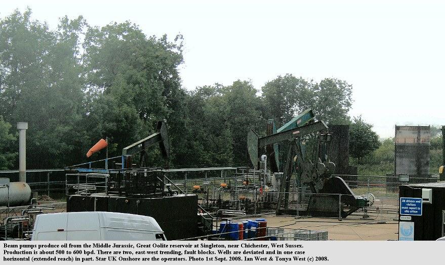 Beam pumps at Singleton Oilfield, near Chichester, Sussex, September 2008