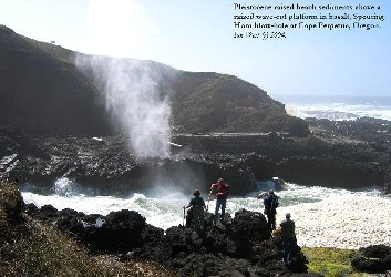 Spouting Horn, a blow-hole, at Cape Perpetua, Oregon