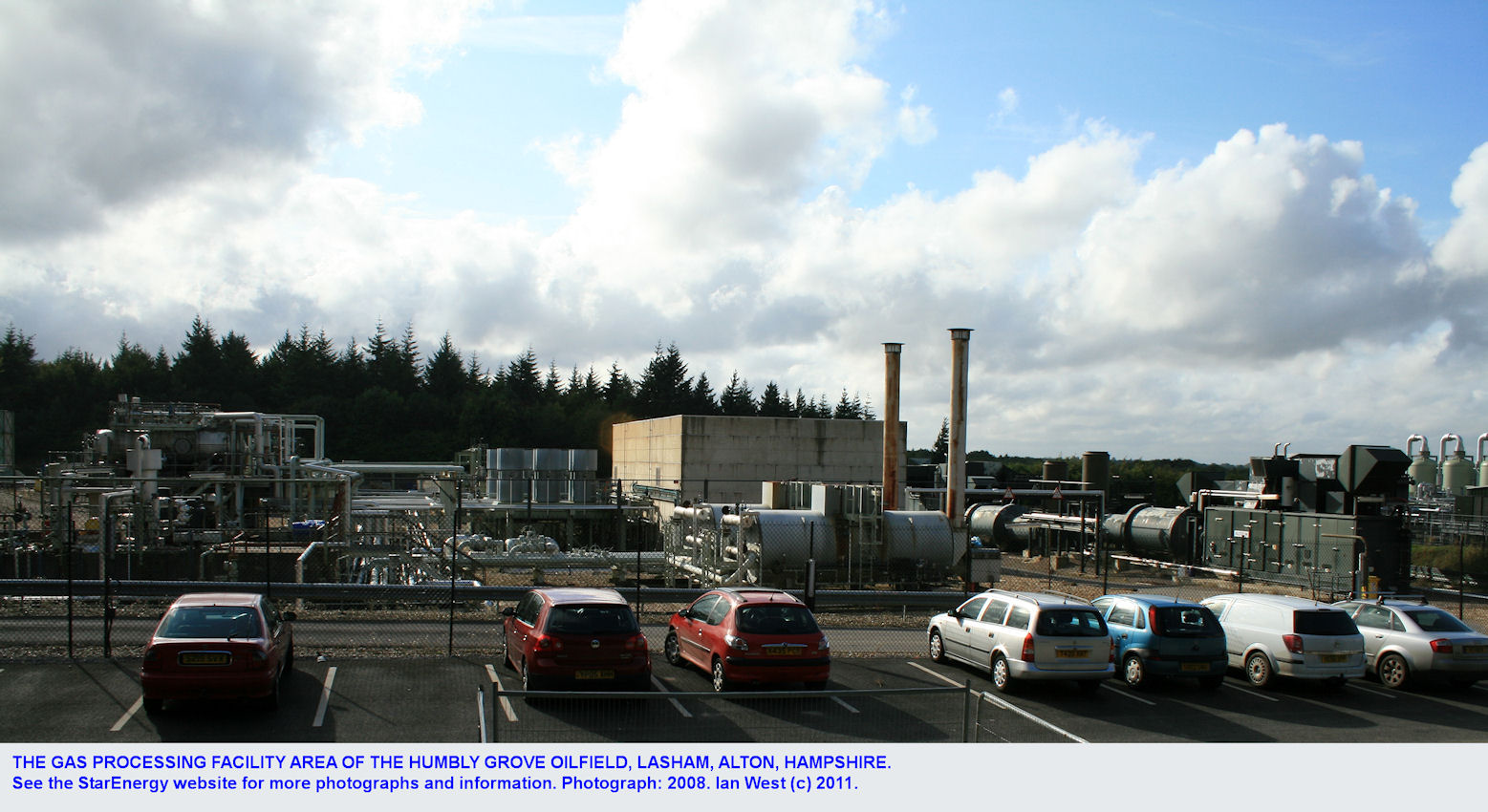 Humbly Grove gas processing site, belonging to StarEnergy, Humbly Grove, Lasham, near Alton, Hampshire, 2008