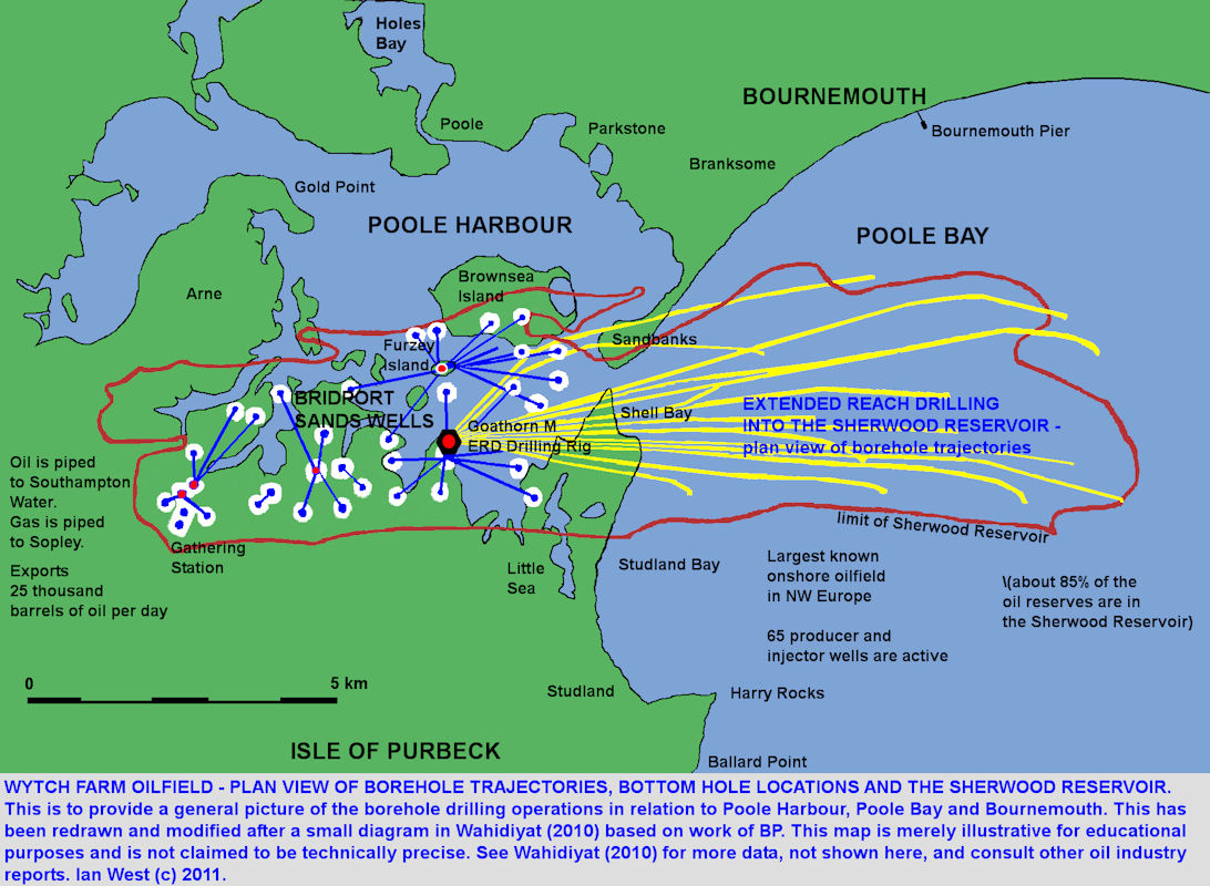 Map Of Uk Oil Fields.Oil South England Introduction
