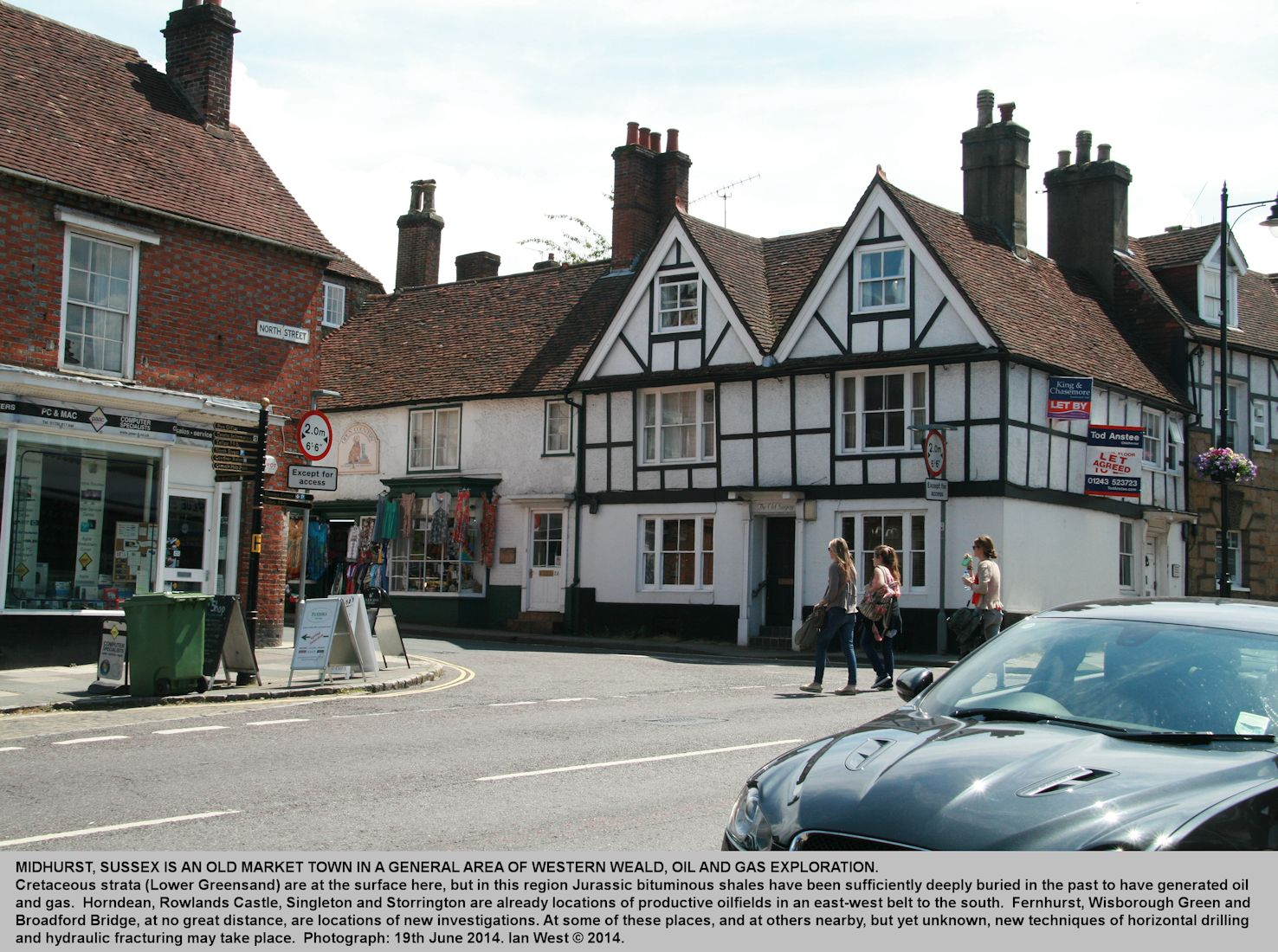 North Street in the old market town of Midhurst, West Sussex, 19th June 2014