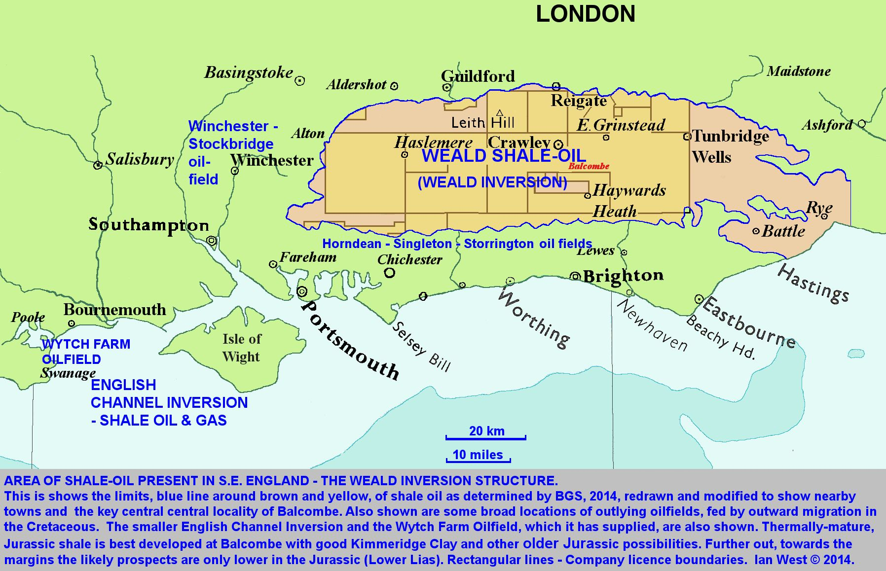 Map Of Uk Oil Fields.Petroleum Geology Of The Weald Shale Oil