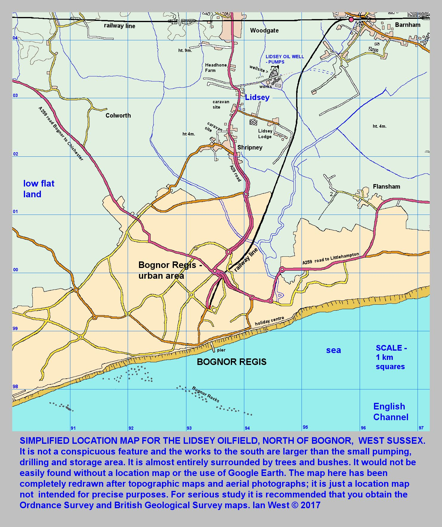 Petroleum Site Map Example: Petroleum Geology Of The Western Weald And South Downs