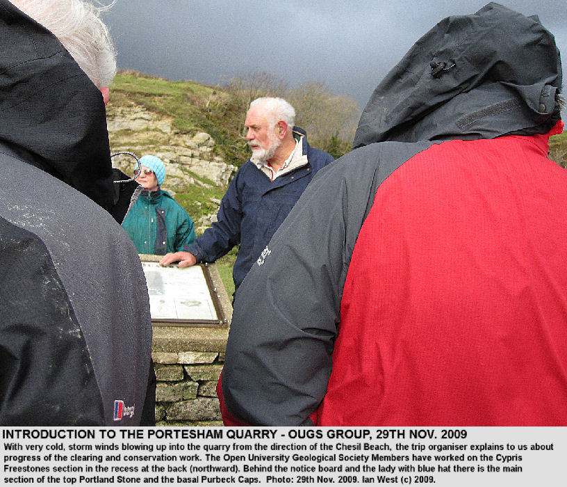 The organiser of the OUGS Dorset Group discusses conservation work at Portesham Quarry, Dorset
