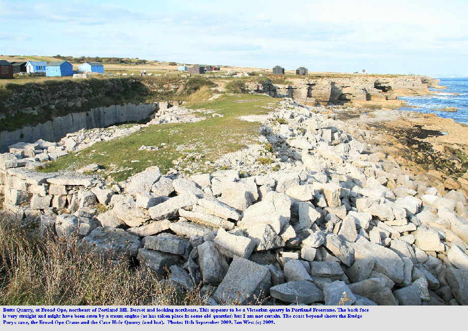 Butts Quarry at Broad Ope, northeast of Portland Bill, Dorset, 11th September 2009
