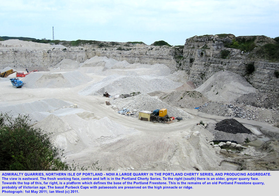 Admiralty Quarries, Isle of Portland, Dorset, a general overview in 2011
