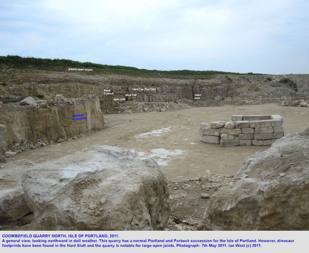 Coombefield-North-Quarry, Isle of Portland, Dorset, a general view in 2011