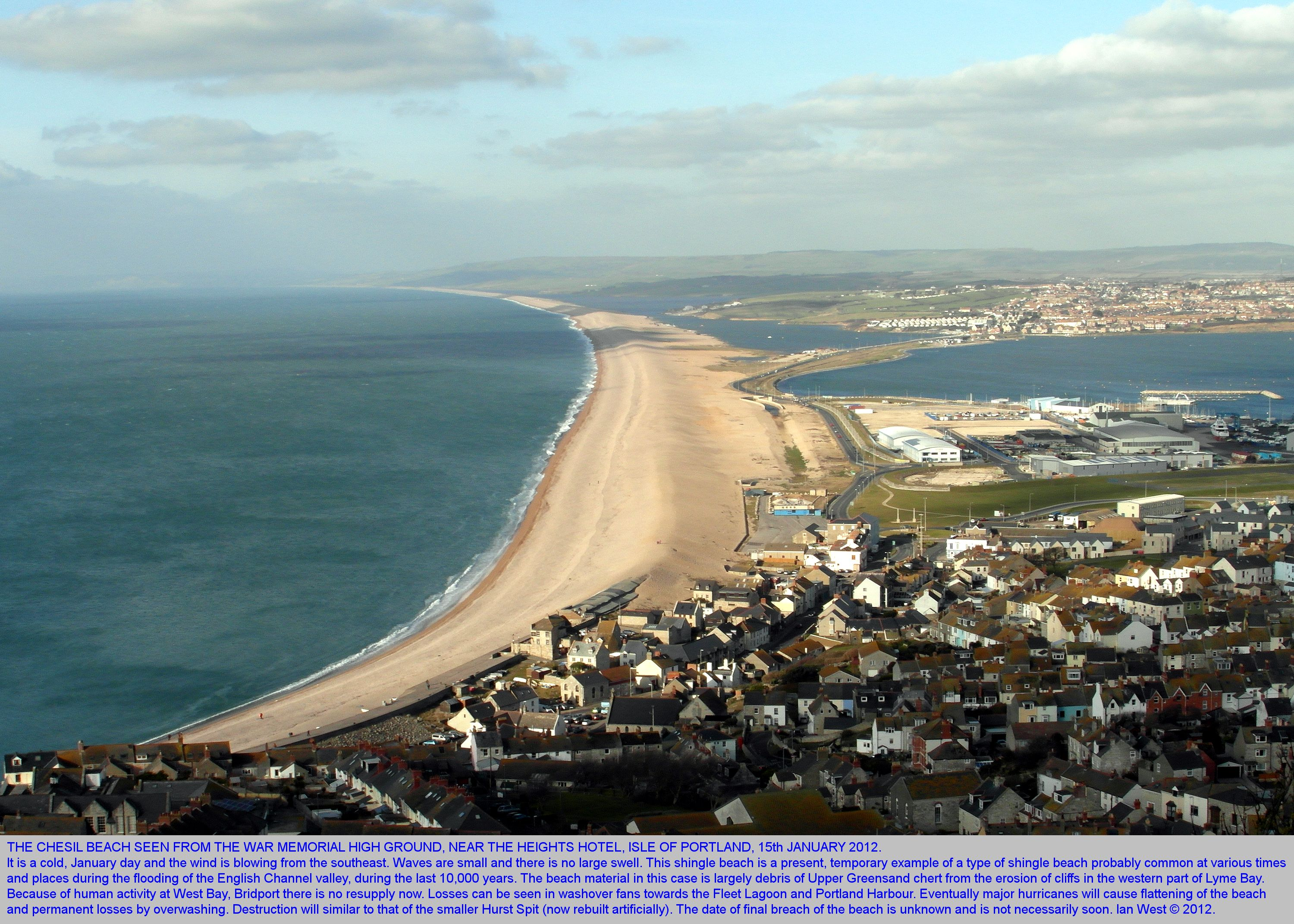 Chesil beach dorset geological field guide introduction by dr a general view of the chesil beach from the top of the isle of portland pooptronica