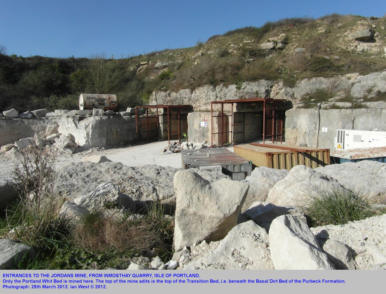 The entrance area of Jordans Mine, next to Inmosthay Quarries, Isle of Portland, Dorset, 29th March 2012