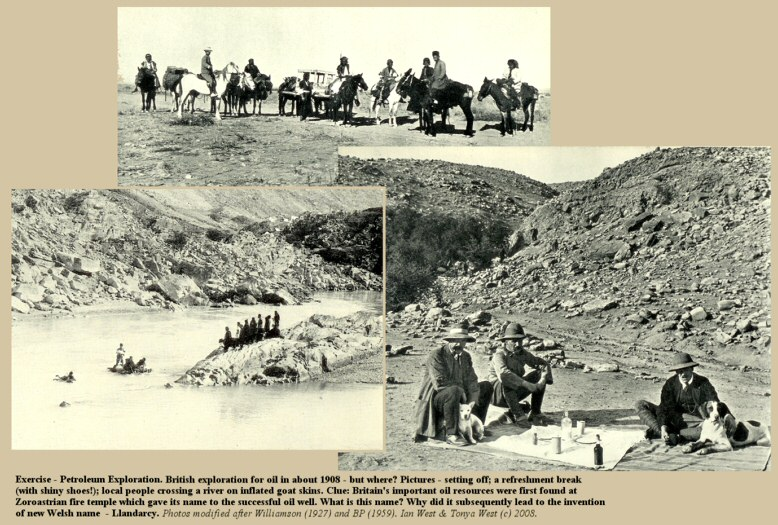 Question-Exercises - Petroleum exploration by the British in about 1908 - but where?