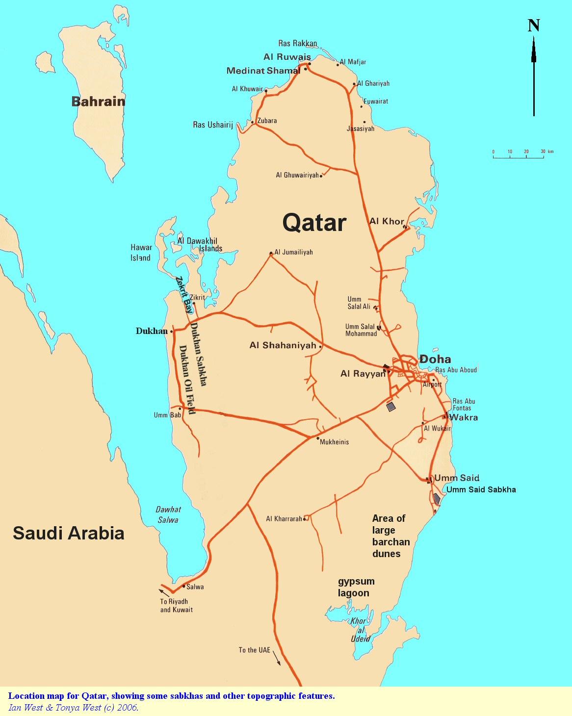 Qatar Geology, Sabkhas, Evaporites and Desert Environments ... on