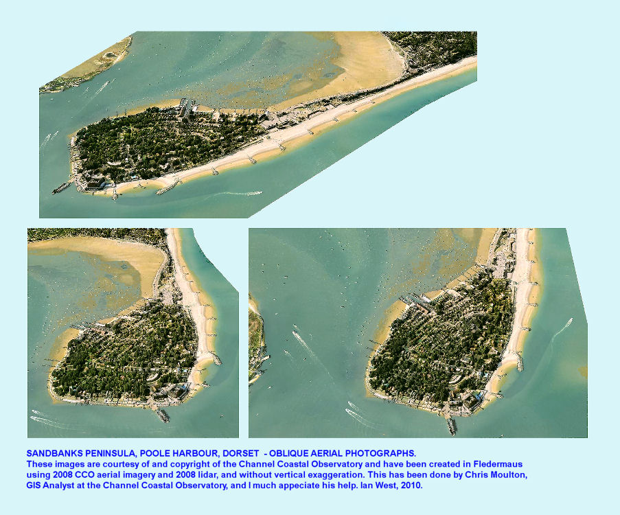 Oblique aerial views of the Sandbanks Peninsula, Dorset, in 2008, courtesy of the Channel Coastal Observatory