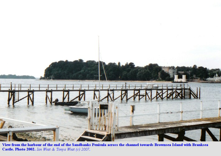 View from the Sandbanks Peninsula, Dorset, across to Brownsea Island, 2002