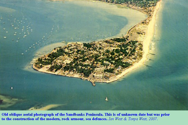 Old oblique aerial photograph of the Sandbanks Peninsula, Dorset