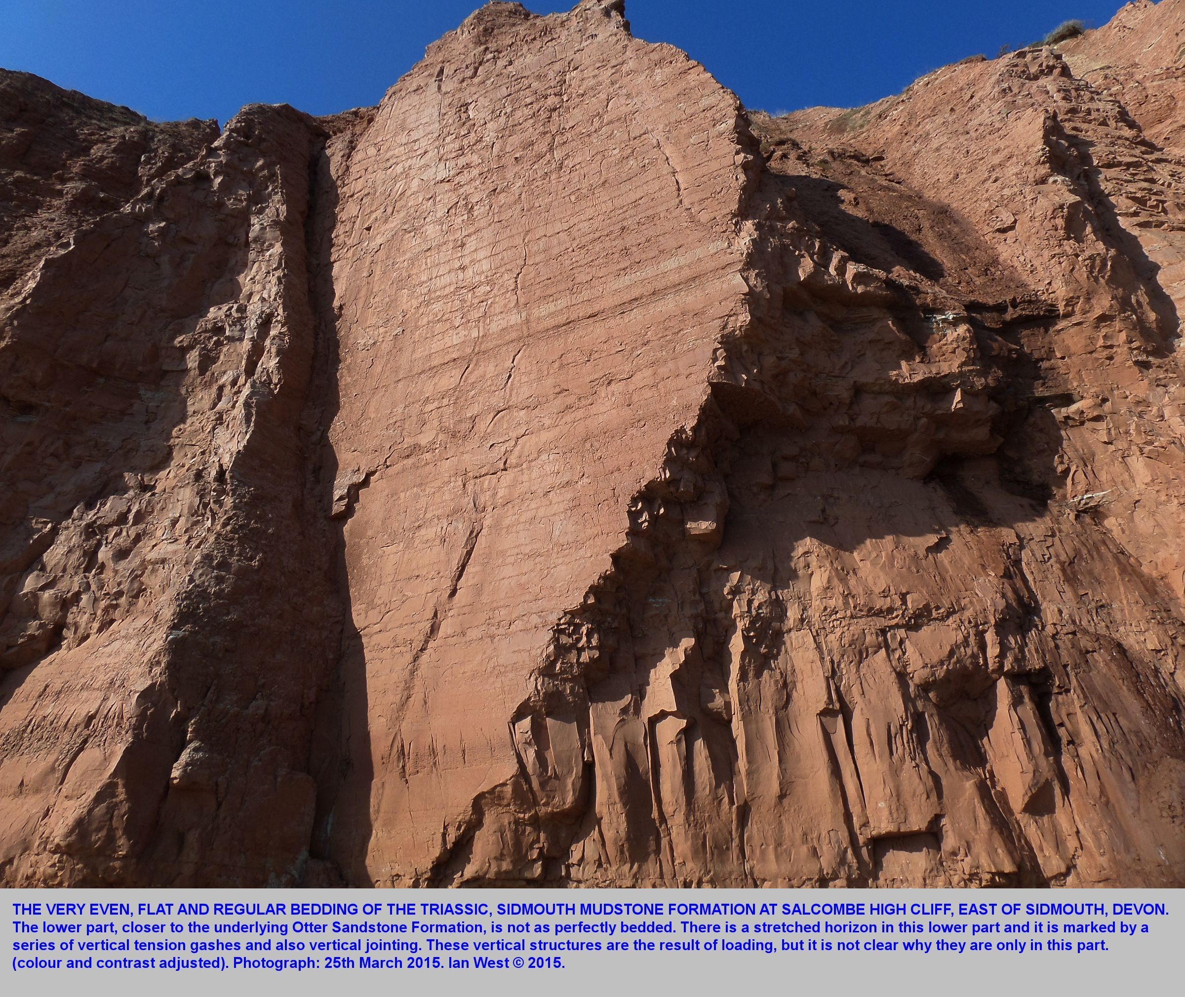 Geology of Sidmouth, and Ladram Bay, Devon