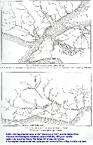 Reids, 1905, hypothetical maps of the Ictis Causeway and the Solent River, Solent Estuaries, southern England
