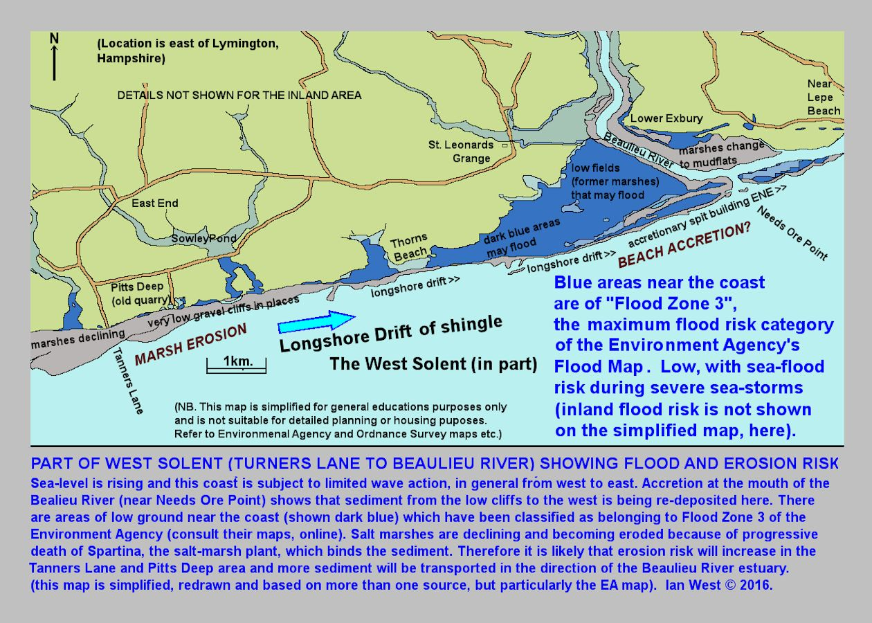 Lymington Keyhaven And West Solent Coast Geology And