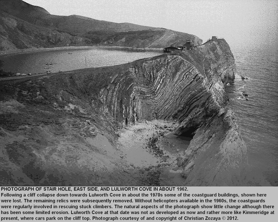 An old photograph of Stair Hole, near Lulworth Cove, Dorset, in about 1962, by Christian Zozaya