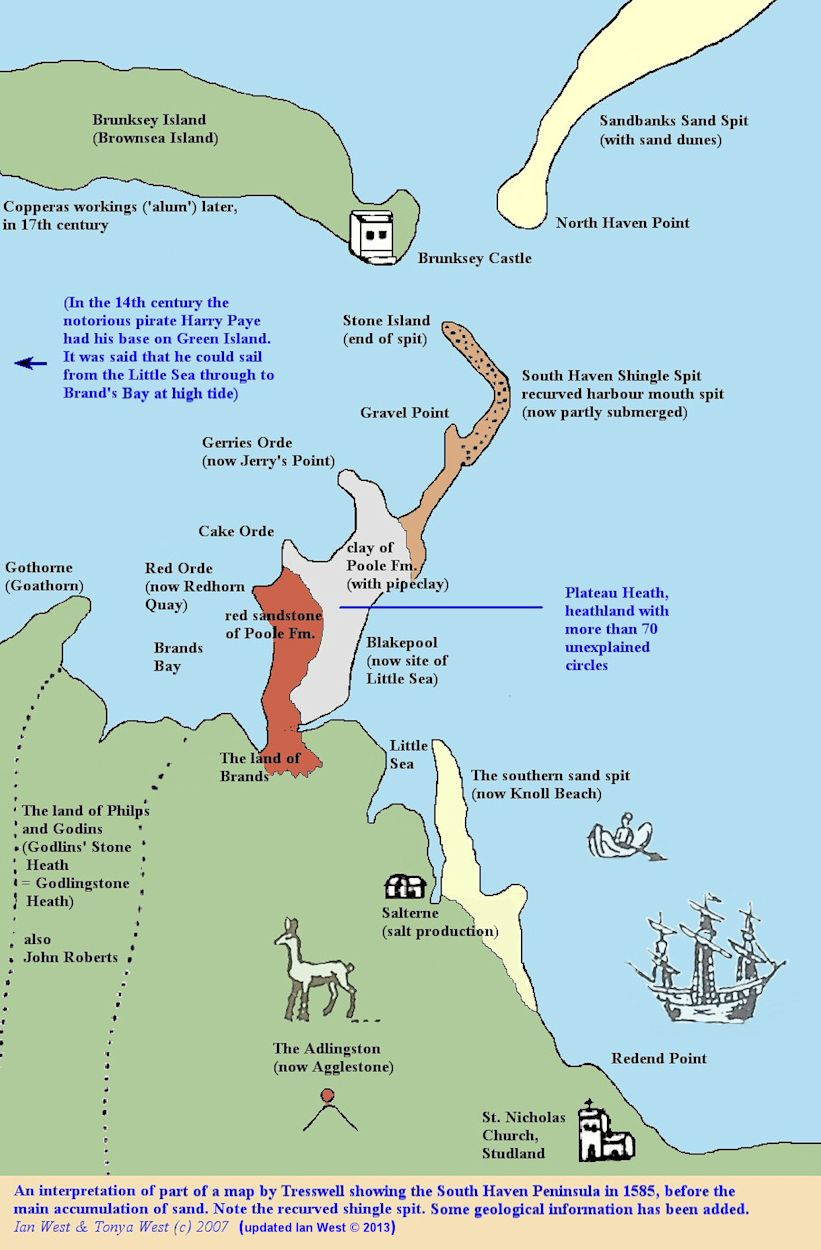 Poole England Map.Studland South Haven Peninsula Geology By Ian West