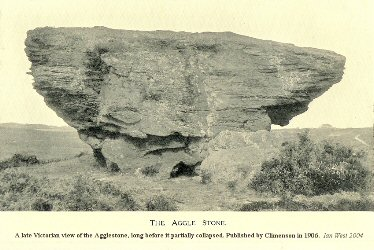 A  Victorian view of the Agglestone Rock, Studland, Dorset