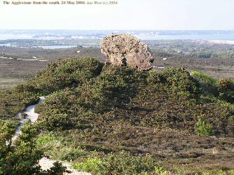 The Agglestone, Studland, Dorset, from the south, 2004