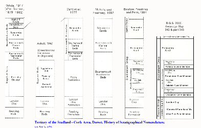 History of Tertiary nomenclature in the Studland Corfe area, Dorset