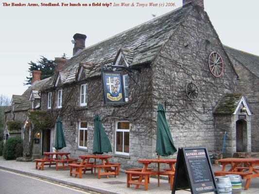 The Bankes Arms pub at Studland, Dorset, conveniently near the South Beach and the path to Harry Rocks, is good for lunch and a drink