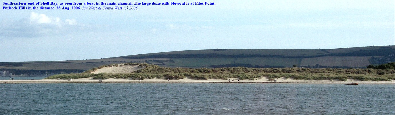 Shell Bay, near Studland, Dorset; the southeastern part seen from a boat in the channel