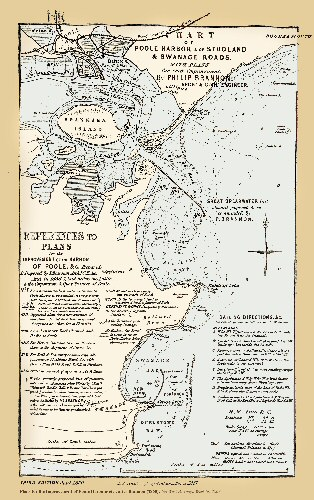 Brannon's 1860 map of Poole Harbour, Sandbanks and Studland etc, Dorset, with his plans for development