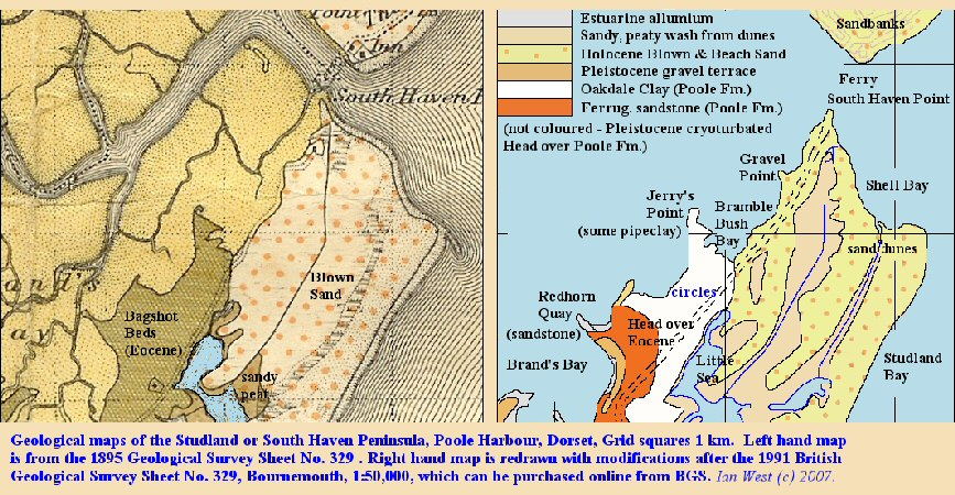 Older and newer interpretations of the geology of the Studland or South Haven Peninsula, Dorset