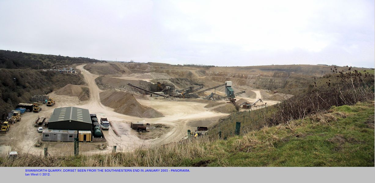 A panoramic view of Swanworth Quarry in Portland Stone, near Worth Matravers, Dorset, 2003