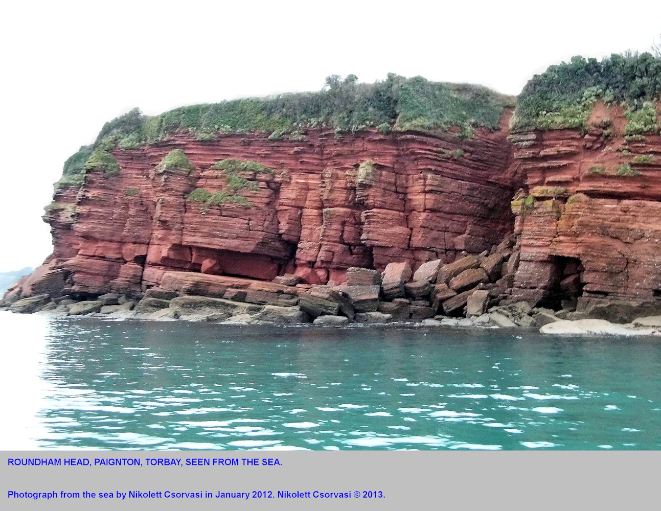 Roundham Head, seen from the sea, Paignton, Devon