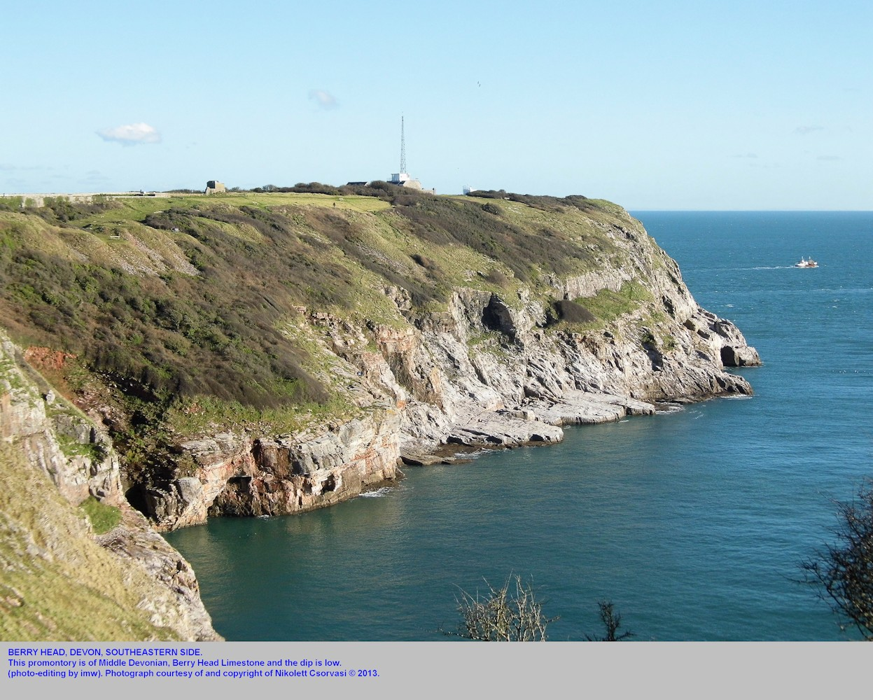 The southeastern side of Berry Head, near Torquay, Devon, photography by Nikolett Csorvasi
