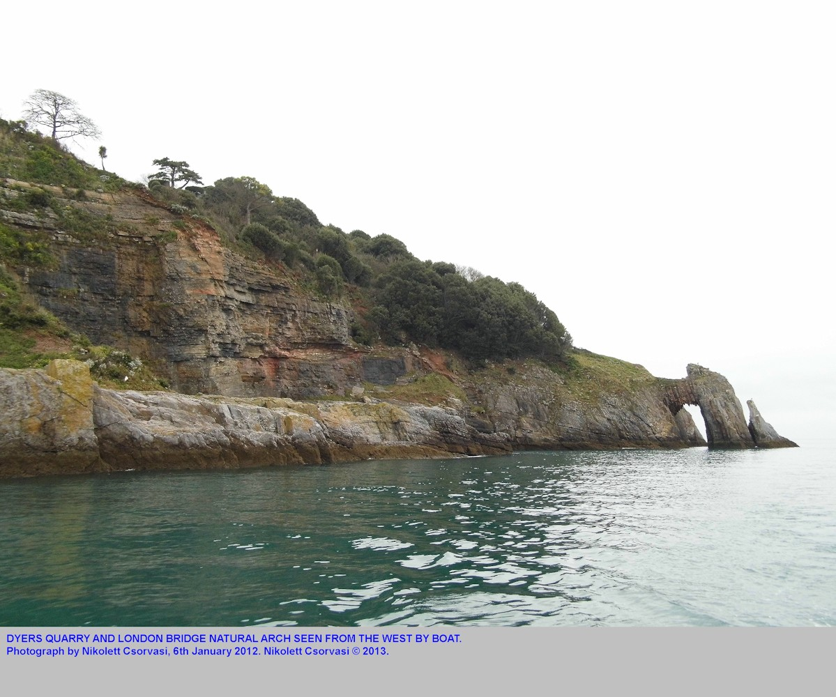 Dyers Quarry and London Bridge in Devonian limestone, Torquay, Devon, photograph by Nikolett Csorvasi, 6th January 2012