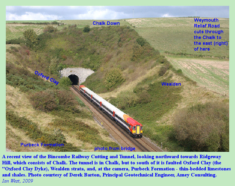 The Bincombe Railway Tunnel and Bincombe Cutting, Near Upwey, Dorset, photo courtesy of Derek Barton, Principal Geotechnical Engineer, Weymouth Relief Road