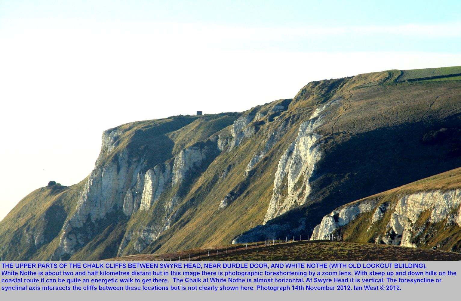 View towards White Nothe, from Swyre Head, near Durdle Door, Lulworth, Dorset, 14th November 2012