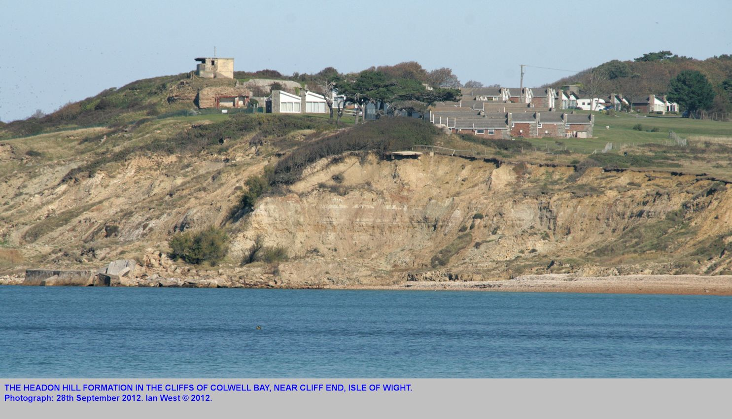 The Headon Hill Formation, exposed in the cliffs near Cliff End, Colwell Bay, Isle of Wight, 28th September 2011
