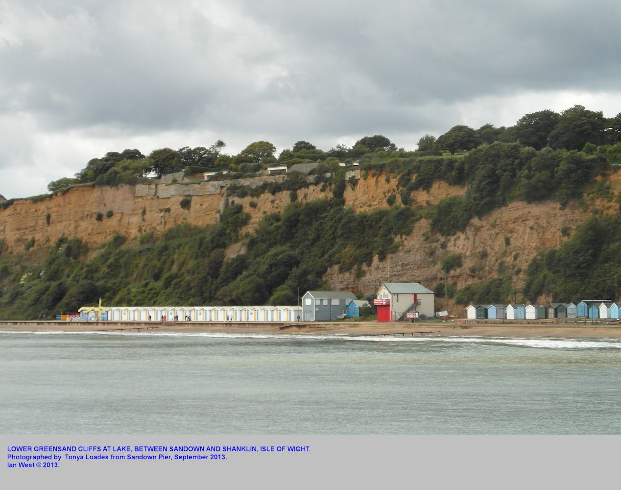 Ferruginous Sands of the Lower Greensand at Lake, between Sandown and Shanklin, Isle of Wight, September 2013