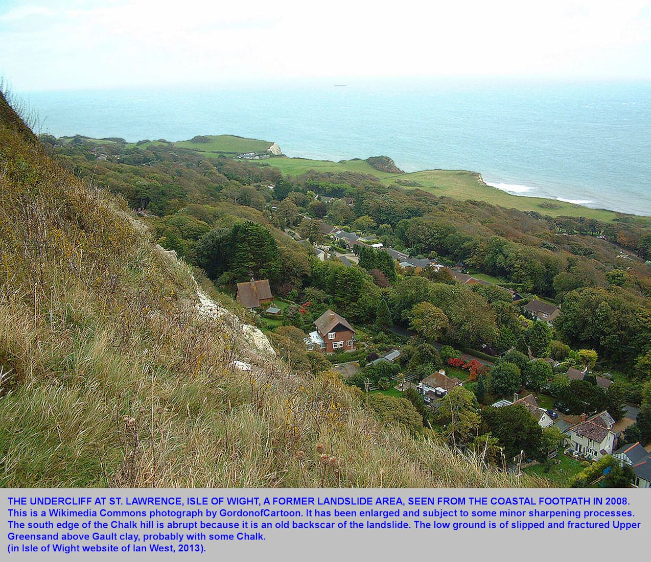 St. Lawrence, a village on the Undercliff of the southern Isle of Wight, 2008