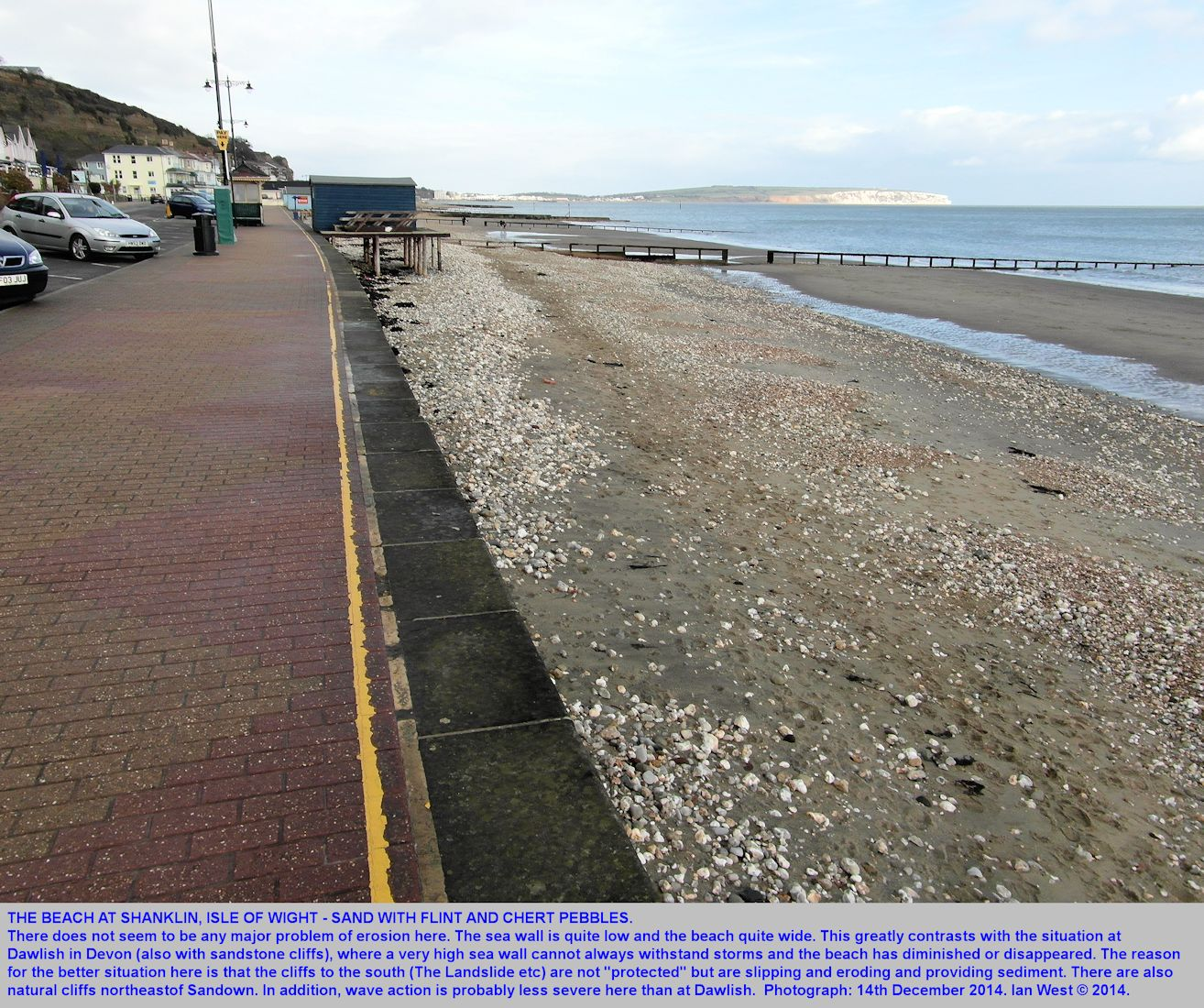 Shanklin, Isle of Wight, beach sand and pebbles, photographed 14th December 2014, Ian West