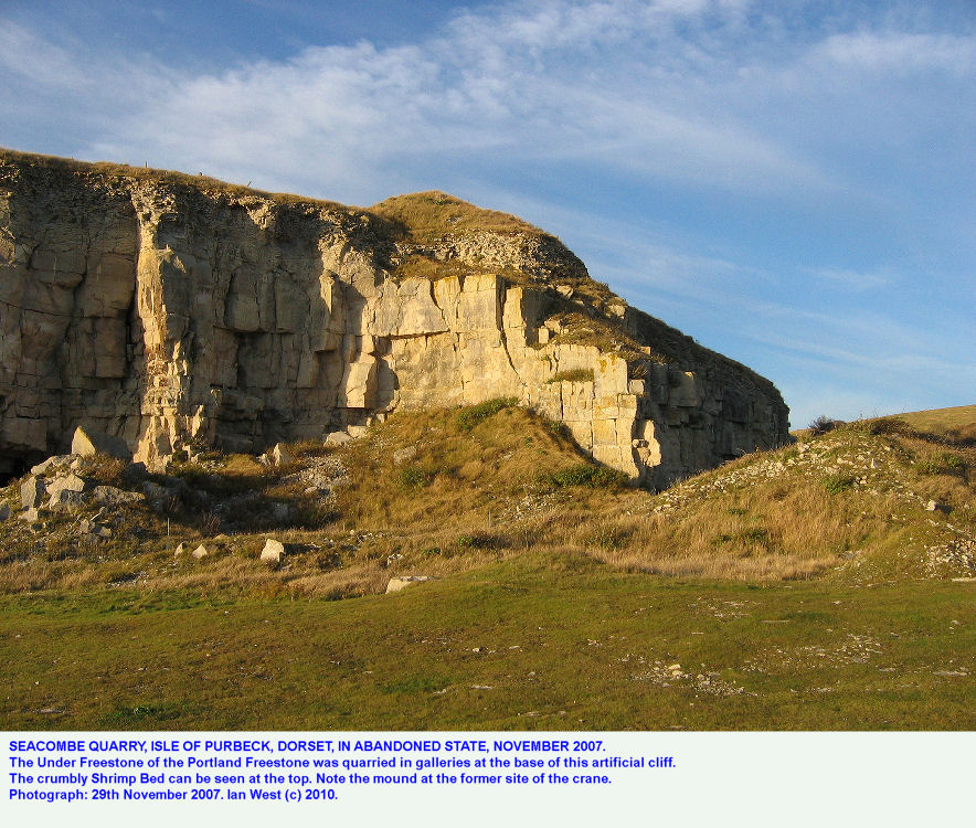 Seacombe Quarry, Isle of Purbeck, Dorset, in abandoned state, November 2007