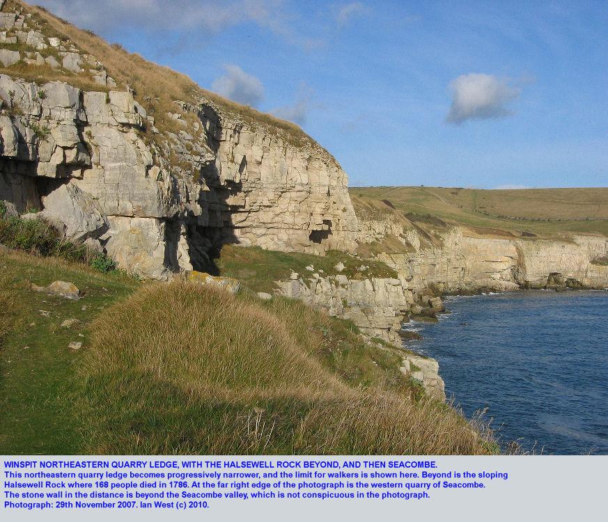 Winspit northeastern quarry ledge, northeastern end, Dorset, 2007
