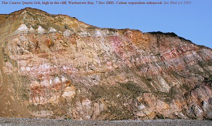 The Coarse Quartz Grit high in the cliffs of Worbarrow Bay, Dorset, Dec 2003