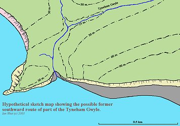 Possible origin of the Pondfield Gap by former southward route of the Tyneham Gwyle