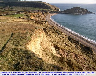 View southward towards southern part of the beach in Worbarrow Bay