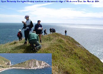 Open University Geological Society on Worbarrow Bay, Dorset, July 2004